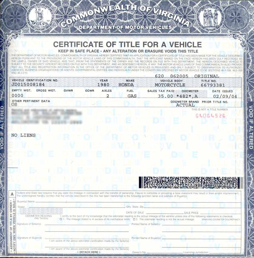 Virginia motor vehicle registration for Virginia motor vehicle department
